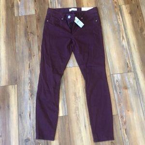 Loft burgundy 6p legging - NWT